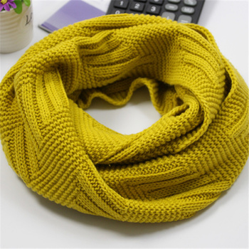Fashion Winter Thicker Warm Knitted Snud for Women Scarf Solid Ring Scarves Ladies LIC Female Collar