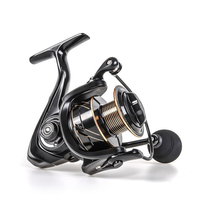 SLS2000 6.5KG Drag Carp Fishing Reel 5.5:1 Gear with Extra Spool Front and Rear Drag System Freshwater Spinning Reel