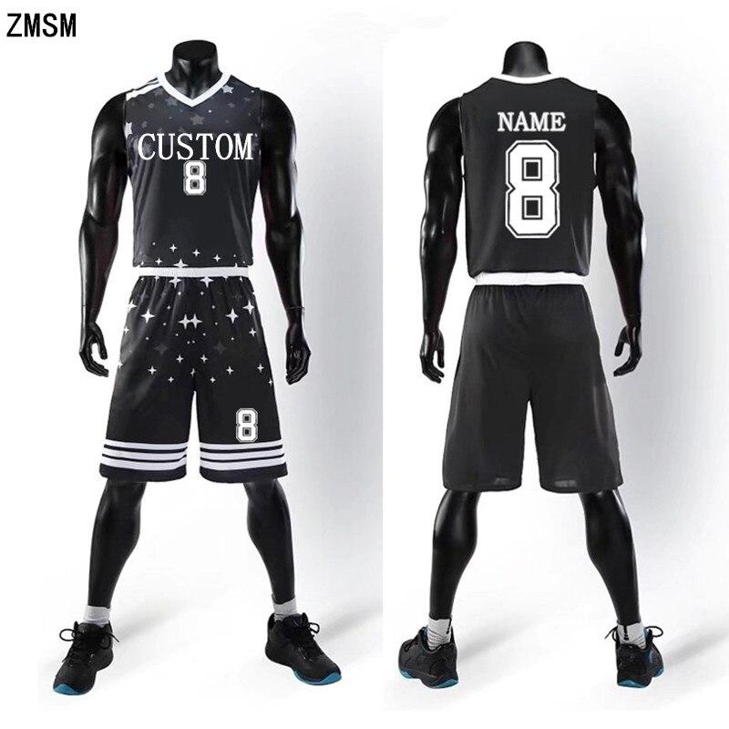 7f1e2e64628 ZMSM 2018 Men's Basketball Jerseys Sets Basketball Shirts