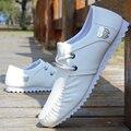 Весна лето мужчины повседневная обувь Мода кожа зашнуровать обувь для вождения Дышащие мокасины мужчины обувь квартиры