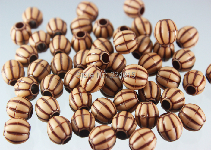 Top Rated!150pcs/9*9mm Acrylic Big Hole Imitation Natural Wood Print Classical Beads For Necklace / Bracelet DIY