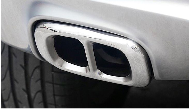 2pcs Stainless Steel For Mercedes Benz GLA Class X156 200 220 260 2015 2016 Car Accessory Exhaust Output Tail Cover Trim Sticker in Car Stickers from Automobiles Motorcycles