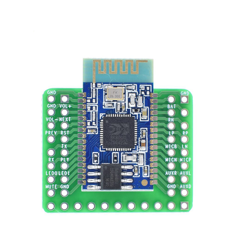 DIY Bluetooth Stereo Audio Module Transmission Expansion Board <font><b>BK8000L</b></font> AT Commands SPP Bluetooth Speaker Amplifier image