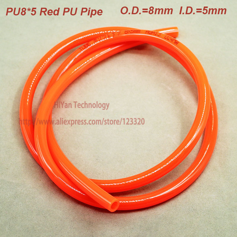 5meters/lot  Pneumatic Hose PU Tube Series OD 8mm ID 5mm Plastic Flexible Pipe Polyurethane Tubing PU8*5mm pu tube 8 5mm air pipe pneumatic parts pneumatic hose id 5mm od 8mm