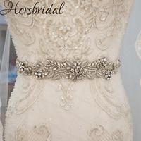 Luxury Crystal And Rhinestone Wedding Belt Beading Bridal Sash For Wedding Gown High Quality Wedding Accessories Decoration
