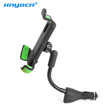 Auto Mount Telefoon Houder voor Smartphone Dual 2.1A Output Quick USB Auto Oplader voor iphone X XS Max XR 8 7 6 Plus Xiaomi LG Android