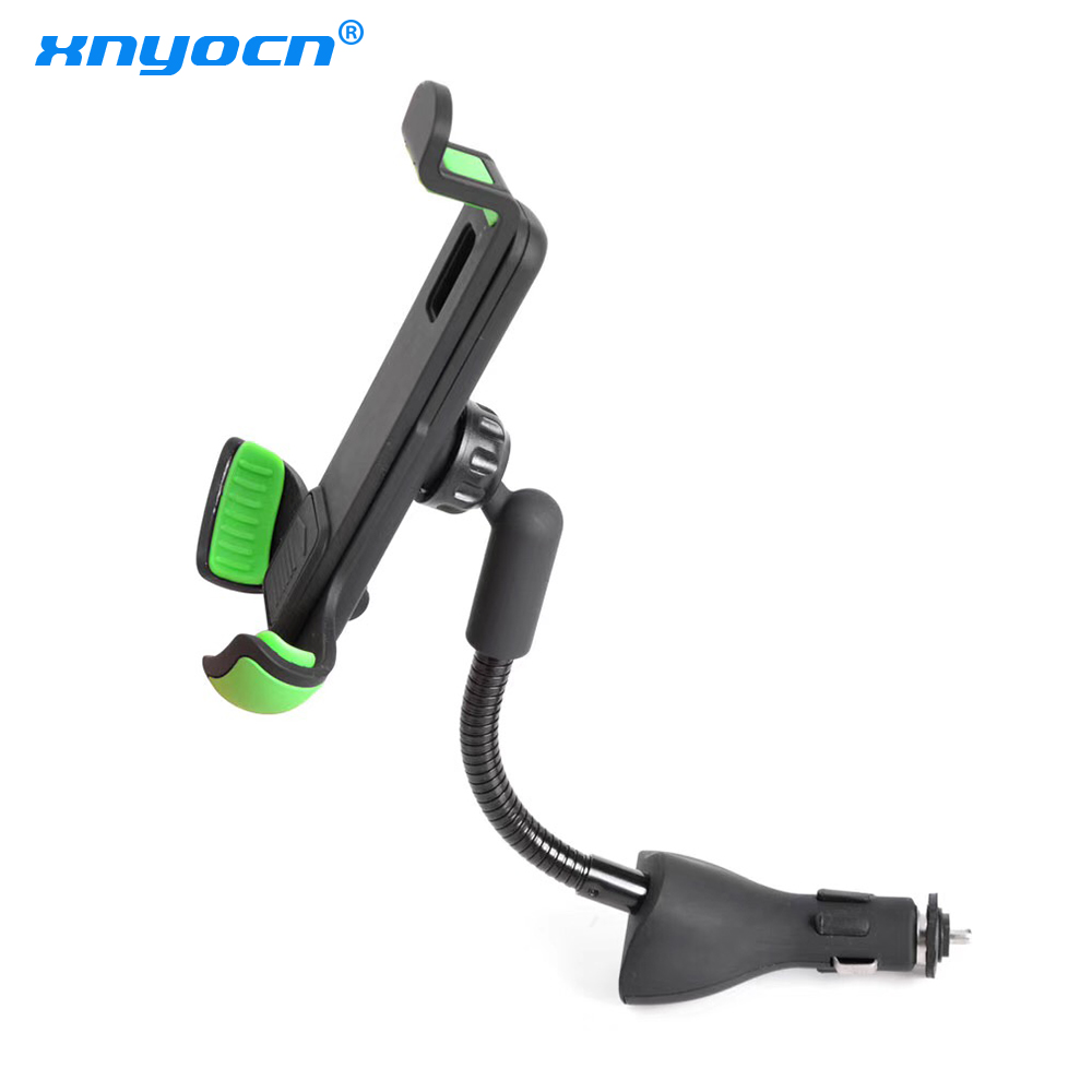 Car Mount Phone Holder For Smartphone Dual 2.1A Output Quick USB Car Charger For Iphone X XS Max XR 8 7 6 Plus Xiaomi LG Android