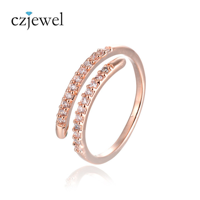 Unique Simple Design Rose Gold Silver Color Party Rings For Women