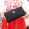 Women Wallets Plaid Women Bag Female PU Leather Wallet Handbag Crown Long Clutch Hasp Card Holder Phone Pocket Coin Purse B741