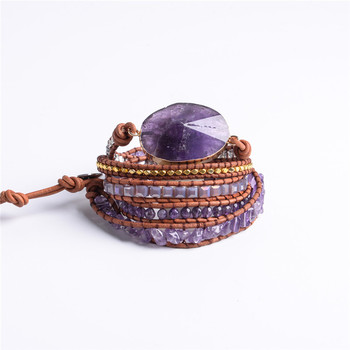 Exquisit Graduated Handmade 2018 - 5X Leather Wrap Beaded Bracelet  Boho Chic Jewelry  Bracelet Valentine's Gift Drop Shipping