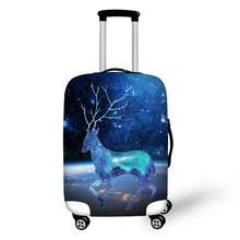 Hand-paint pattern print on suitcase luggage travel luggage protective cover anti-dust trolley cover for 18 to 32 inch bag все цены