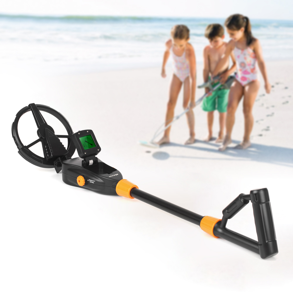 Children Gold Detector Digger Handheld Metal Detector underground Treasure Hunter Tracker Seeker +Waterproof Search Coil for Kid lowest price hot md 3010ii underground metal detector gold digger treasure hunter md3010ii ground metal detector treasure seeker