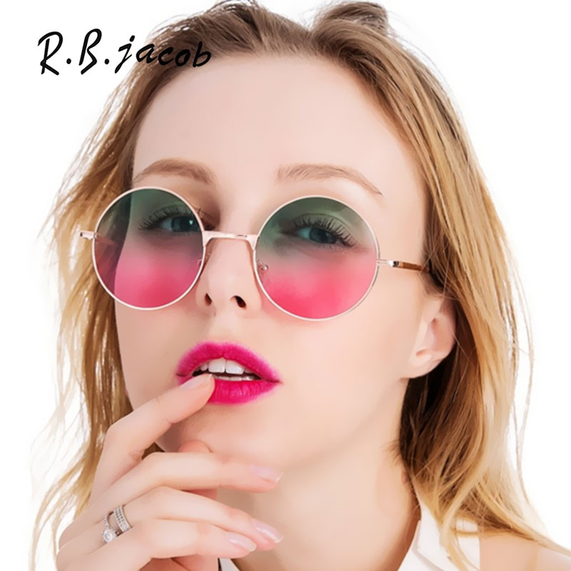 2017 Newest Fashion Style Women Sunglasses Round Small Vintage Summer Hot Sale Lady Gradient Color Sun Glasses High Quality