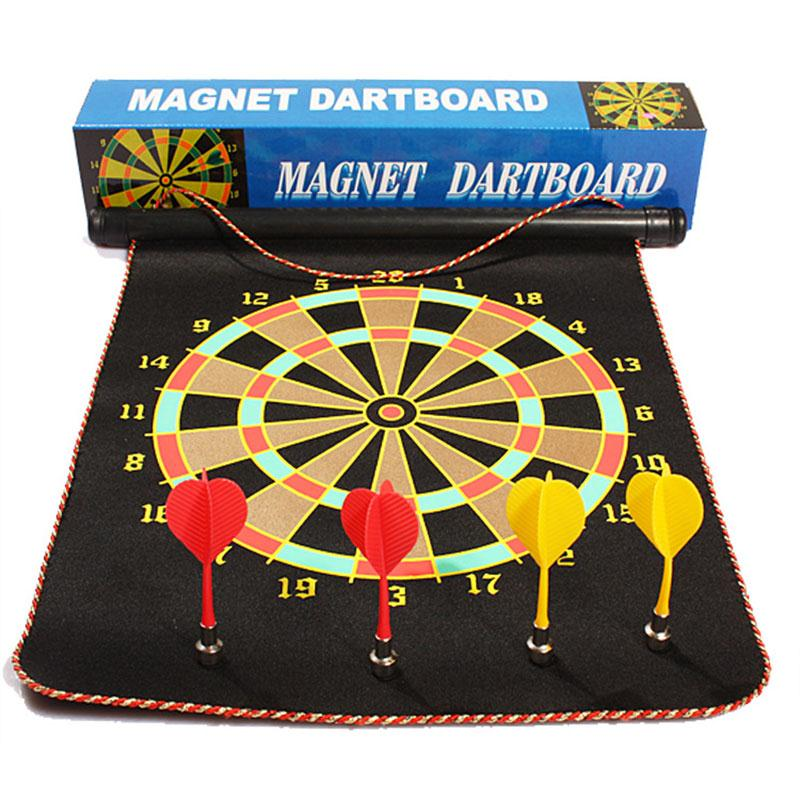 12 Inch Flocking Magnetic Dart Board Darts Suit Double-sided Darts Plate With Safety 4 Darts Needle