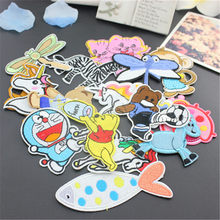 Sewing Clothes Gun Patch Iron On Embroidery Patches Hotfix Applique Motifs Sew On Garment Stickers horse popcorn candy Cool New(China)