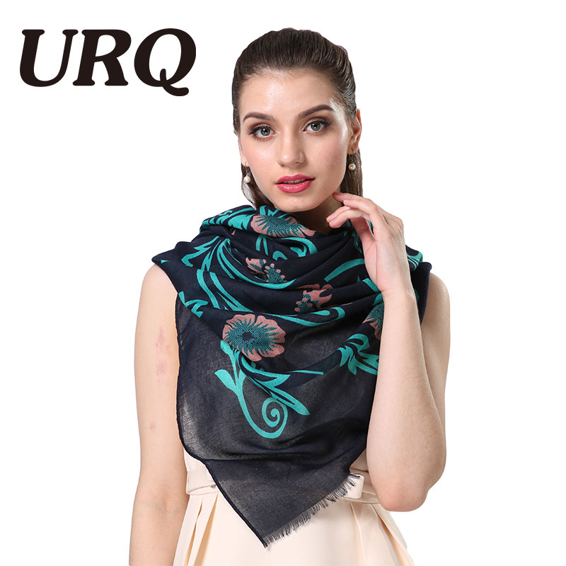 Winter Flower Style lady Scarfs With Tassel Women Scarf from India Pashimina Cotton Viscose Scarf Foulard V9A18590