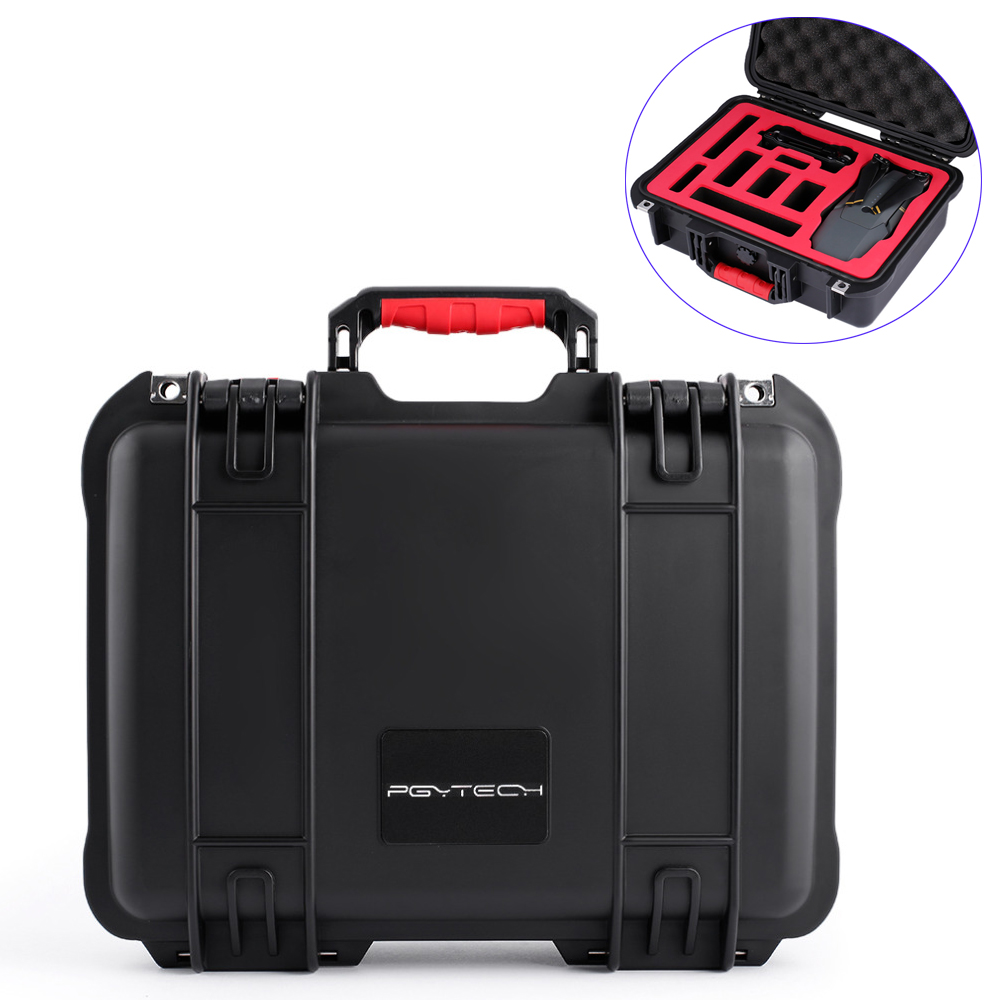 PGYTECH Waterproof Safety Carrying Case Hard EVA with Foam for DJI Mavic Pro Camera Drone  new black abs plastic gimbal hard case for mini drone dji osmo with custom foam waterproof box for headless drone