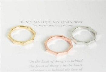 10 unids/lote gran oferta de aleación anillo octogonal nuevo anillos apilables
