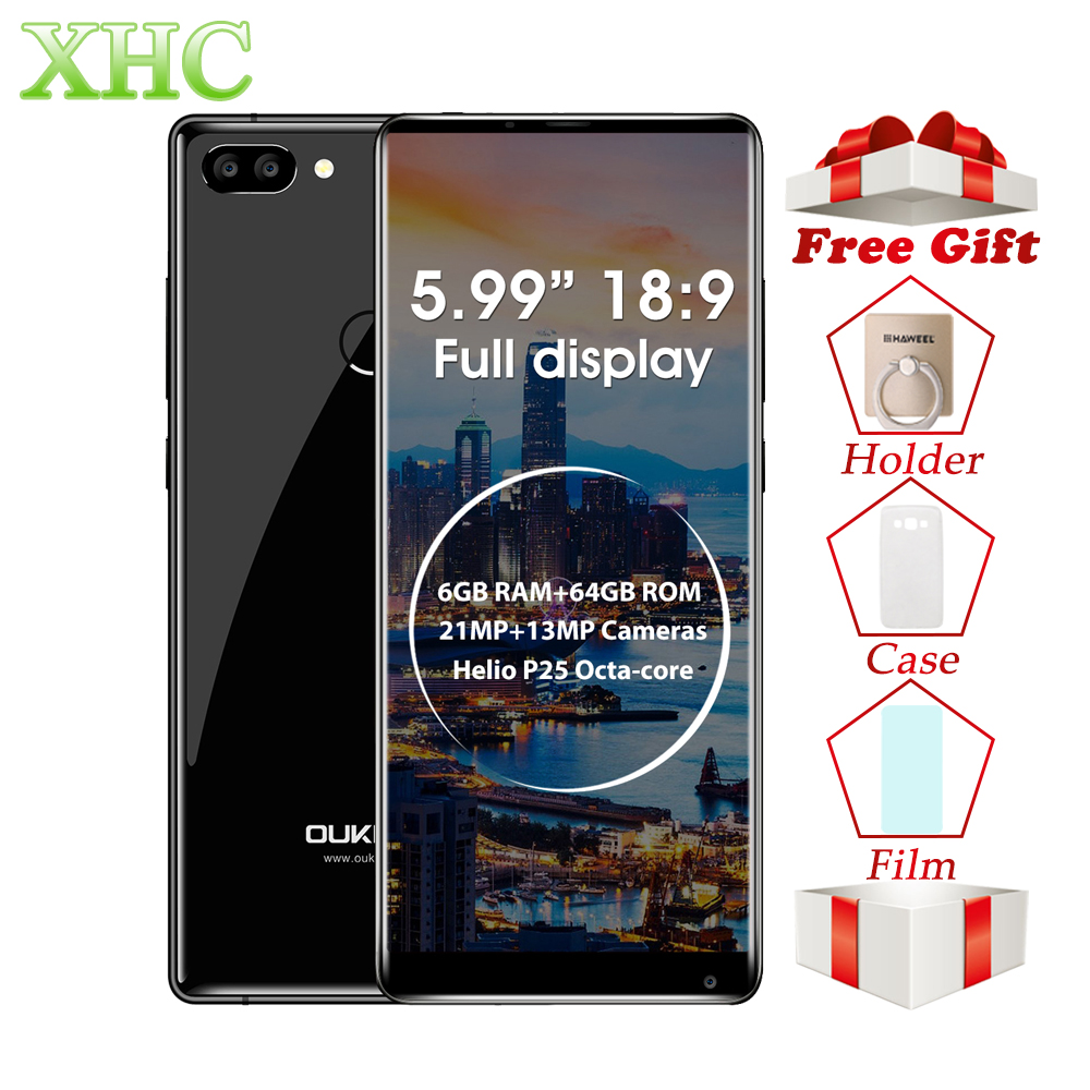 OUKITEL MIX 2 5,99 дюймов смартфонов 6 ГБ + 64 ГБ двойной задней камерами отпечатков пальцев ID Android 7,0 Octa Core LTE 4 г Dual SIM мобильный телефон