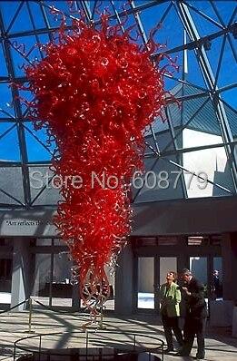 O Envio gratuito de Big Red de Alta Teto Lustre de Cristal Contemporâneo