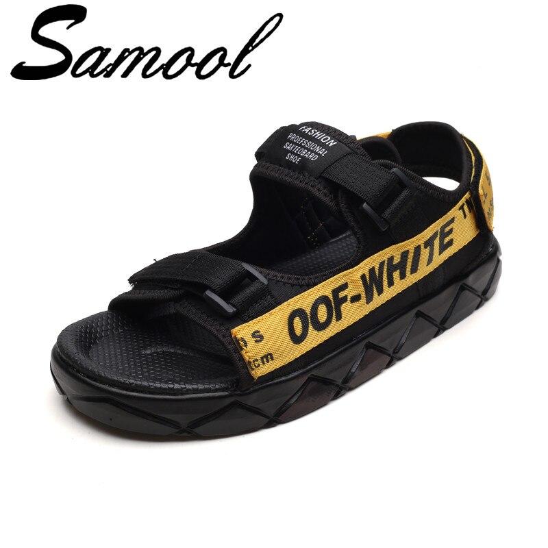New Summer Fashion Men Open Toe Beach Sandals Breathable Flat Bottom Casual Sandals Non-slide Male Flip-Flops Zapatos Hombre Sx4