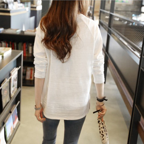 2018 new stock round neck Korean of solid bamboo cotton T-shirt for woman free shipping