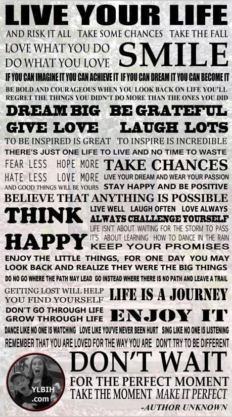 Poster Quotes About Life Inspiration Live Your Life Poster Inspirational Positive Quotes Poster Decor