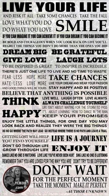 Live Your Life POSTER Inspirational Positive Quotes Poster Decor Best  Canvas Print 50x75cm FREE SHIPPING