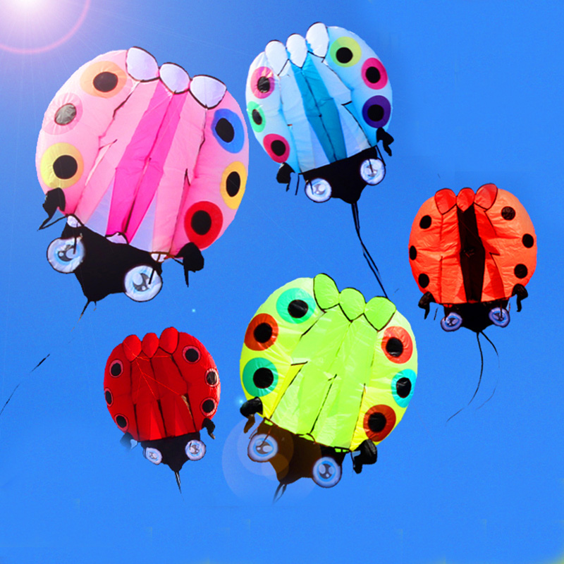 Livraison gratuite nouveau design grande coccinelle 3D doux cerf-volant poulpe extérieur jouets volants weifang cerf-volant usine kitesurf dragon cerfs-volants