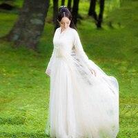 2018 winter elegant fairy costume hanfu for women exhibition design photography hanfu cosplay costume