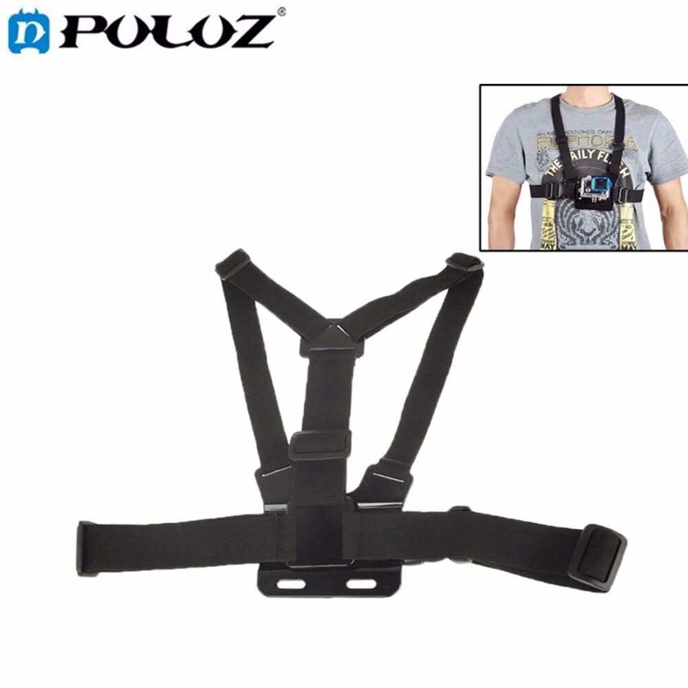 For Go Pro Accessories Chest Elastic Belt Shoulder Strap Mount Holder for GoPro HERO5 HERO4 Session HERO 5 4 3+ SJCAM SJ4000