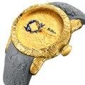 BIDEN 2018 новые мужские наручные часы кварцевые модные силиконовые скульптурные мужские часы золотой черный ремешок для часов с бриллиантом