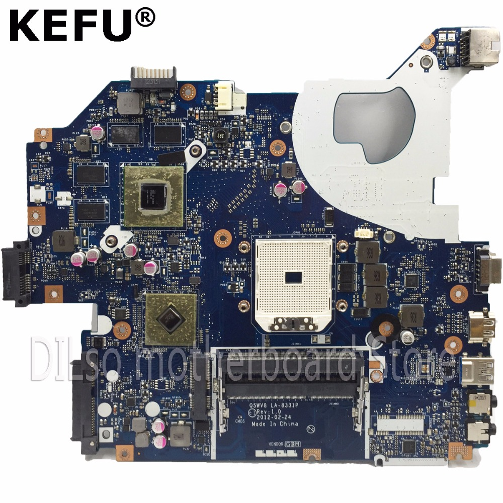 KEFU V3-551G motherboard For acer aspire V3-551G V3-551 laptop motherboard LA-8331P DDR3 Radeon <font><b>HD</b></font> <font><b>7670M</b></font> original test image