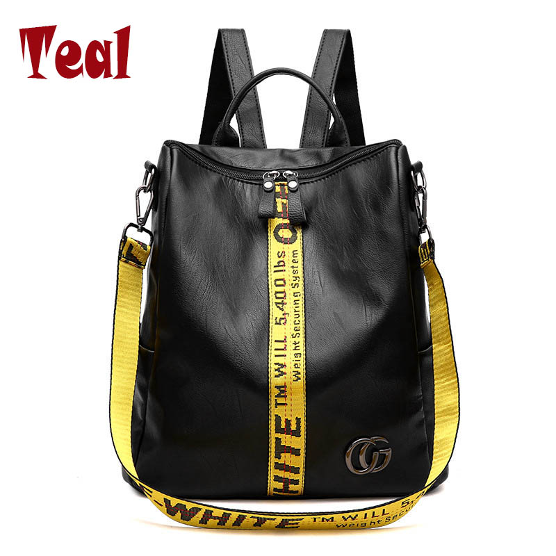 Women Bag Ladies Backpack pu Leather School Backpacks for Teenage Girls Shoulder Bag  Large Capacity Women's Bag Famous Brand allenjoy christmas backdrop tree gift chandelier fireplace cute professional background backdrop for photo studio