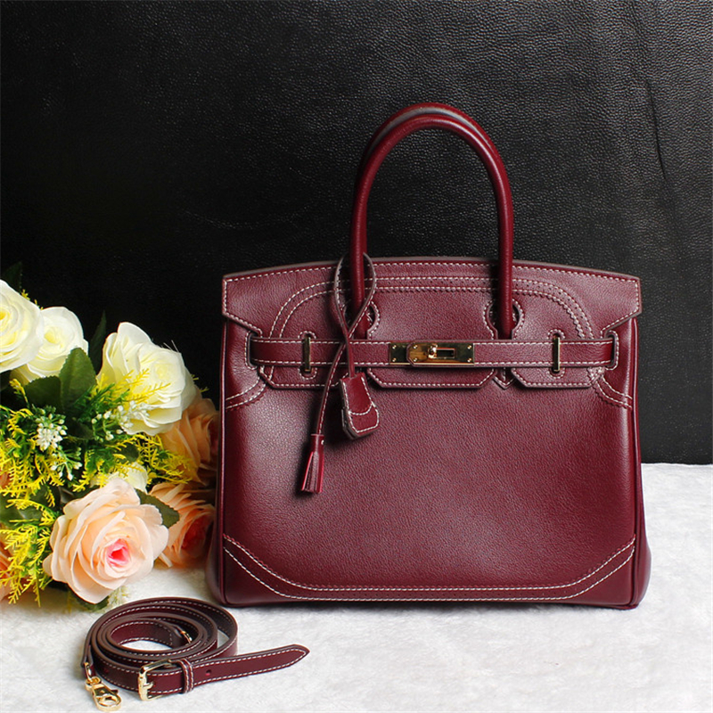 Luxury Handbags Women Bags Designer 2018 Lace Side Plane Genuine Leather Lock Hasp High Quality OL Crossbody Bags For Women bolsa feminina pink lace side 2018 luxury handbags women bags designer genuine leather hasp lock large crossbody bags for women