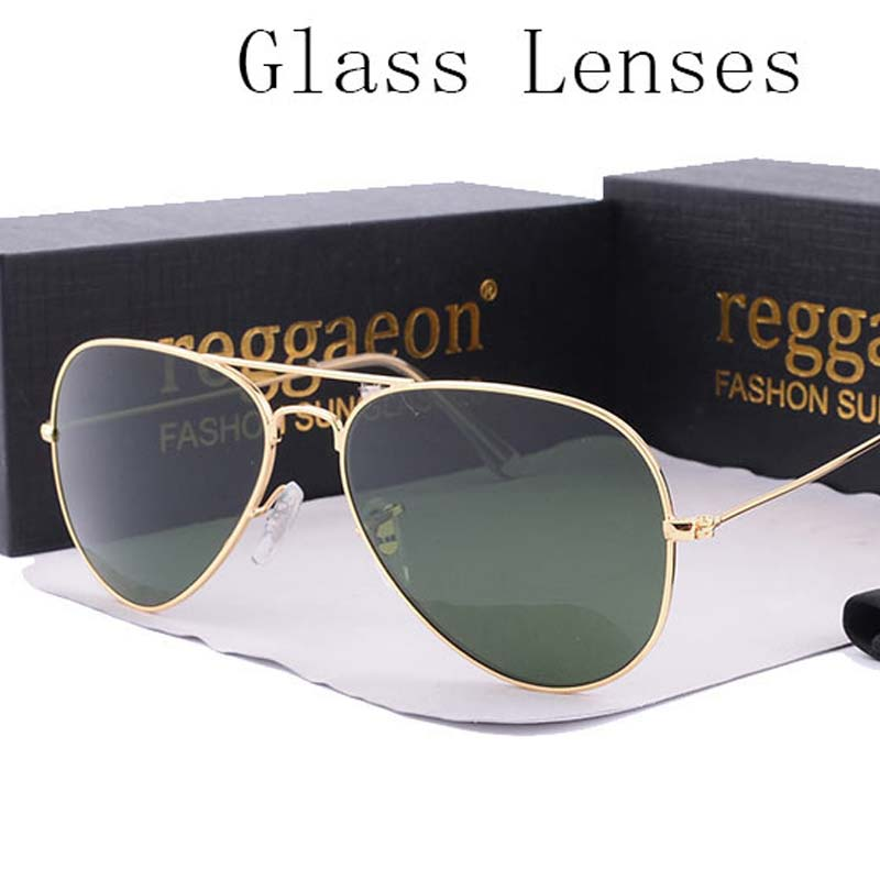 0bcc6f545e15 Detail Feedback Questions about reggaeon luxury Glass lens sunglasses women  2019 High quality uv400 men Brand Designer beach box rays Pilot Sun glasses  G15 ...