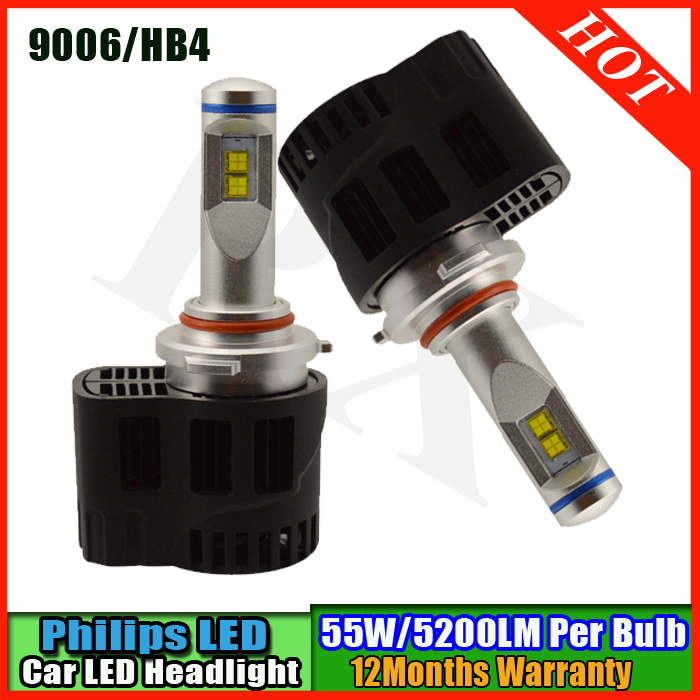 1set 110W P6 MZ chip car HB4 9006 led headlights Canbus no error LED headlight bulbs headlamp 10400LM LED Car headlight