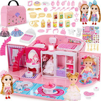 Children's Girls Toys Girl Dreams Handbag Play House Princess Toy Handbag Bedroom Kitchen Play House Birthday Gift 3 6 10 12 Old