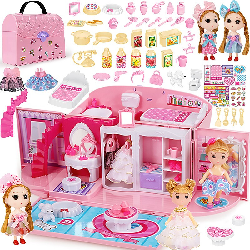 Children's Girls Toys Kitchen Kids Toys Girl Dreams Handbag Play House Princess Toy Handbag Bedroom Play House Birthday Gift