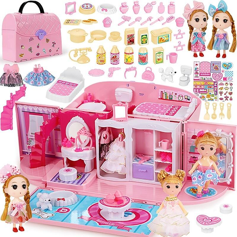 Children's Girls Toys Kitchen Kids Toys Girl Dreams Handbag Play House Princess Toy Handbag Bedroom Play House Birthday Gift