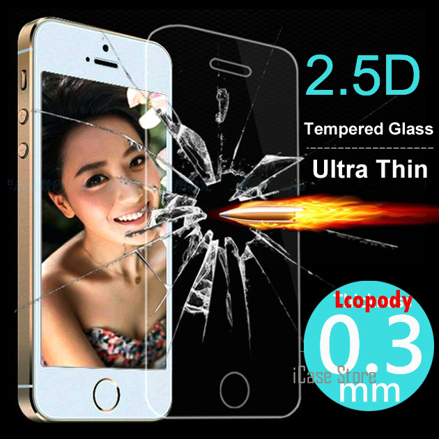 Ultra Thin Tempered Glass Screen Protector Cases For iPhone 5s iphone 5 case Original capa fundas For Apple iphone 5S case 5c