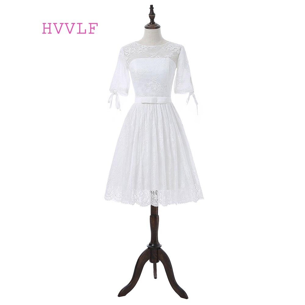Cheap Wedding Gowns With Sleeves: Cheap Vestido De Noiva 2019 Wedding Dresses A Line Short