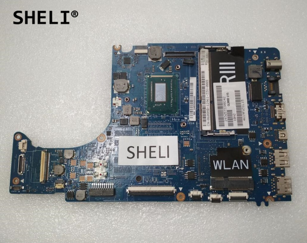 SHELI For Dell L421X Motherboard with I5-3317U LA-7841P CN-0608MD 0608MD 608MD sheli for dell 1645 motherboard with hd 4670 1gb da0rm5mb8e0 cn 0y507r 0y507r y507r