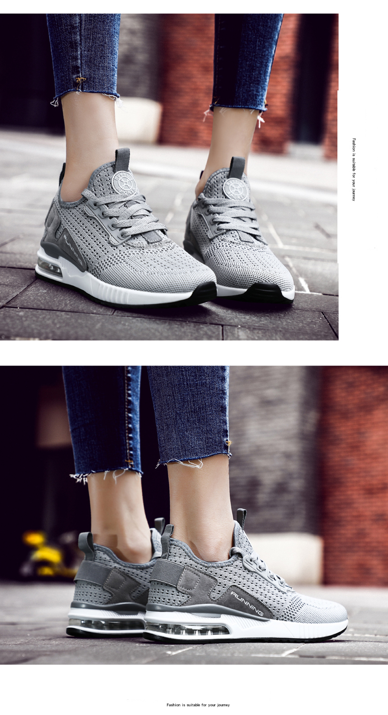 Hemmyi Couple Sneakers Shoes Mesh Breathable Chaussure Homme Spring/Autumn Men Shoes Air Cushion Size 36-45 Support Dropshipping