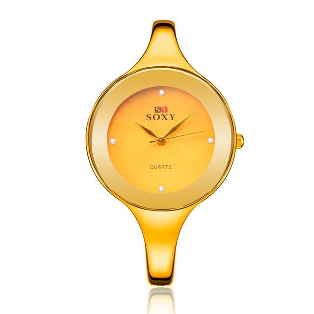 Women dress watch brand SOXY quartz fashion high quality new designer stainless