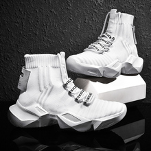 Running Shoes For Men High Top Sock Sneakers Men Chunky Dad