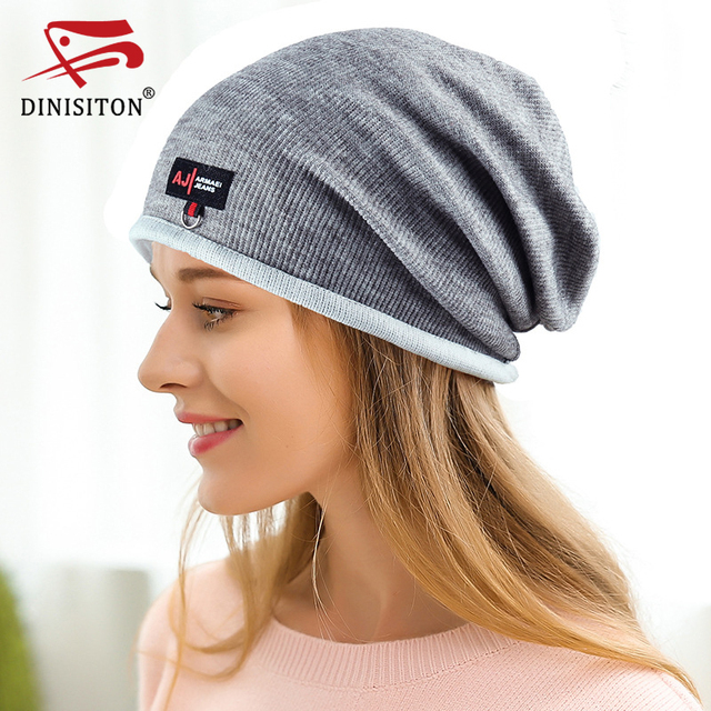 DINISITON Cotton Hat Skullies Caps Bone gorras Casual Beanies Hats New  Square pattern Spring Summer Women Knitted Cap BL06 27af711e66e
