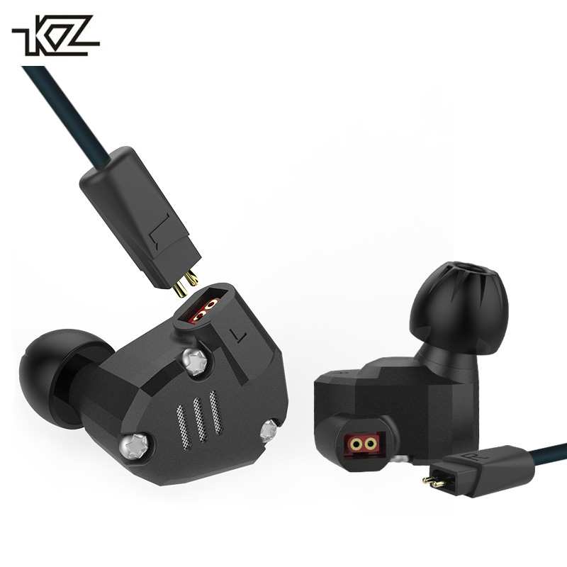 Original KZ ZS6 2DD + 2BA hybride écouteur tête téléphone DJ moniteur métal écouteurs HIFI casque écouteurs avec câble de mise à niveau KZ