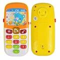 Mini Bonito Telefone de Brinquedo Eletrônico Crianças Educação infantil Dos Desenhos Animados do Telefone Móvel Celular Telefone Telefone de Brinquedo Musical Do Bebê Brinquedos