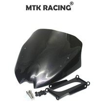 MTKRACING Motorcycle accessories windshield windshield visor for BMW G310R G 310R g310r g 310r 2017-2018 abs motorcycle windscreen windshield cover for 2016 2017 2018 bmw g310r g 310r 310 r wind shield deflector with mounting bracket
